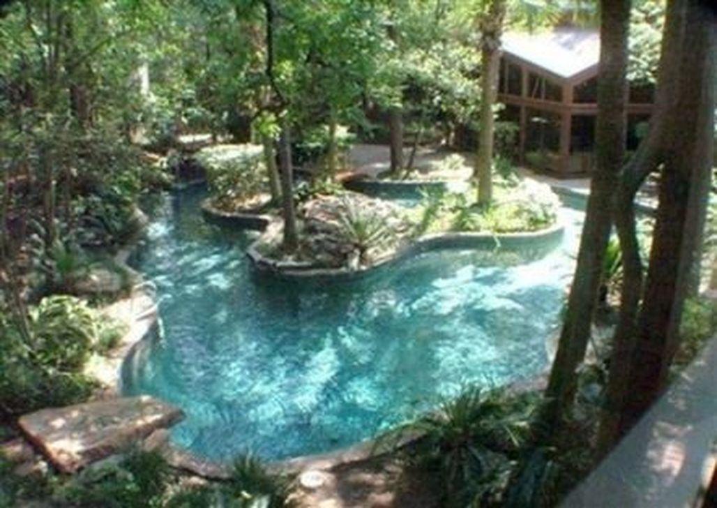 Stunning Backyard Pool Landscaping Ideas 27