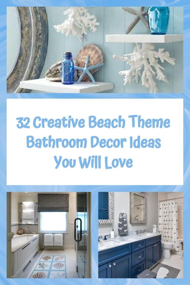 32 Creative Beach Theme Bathroom Decor Ideas You Will Love
