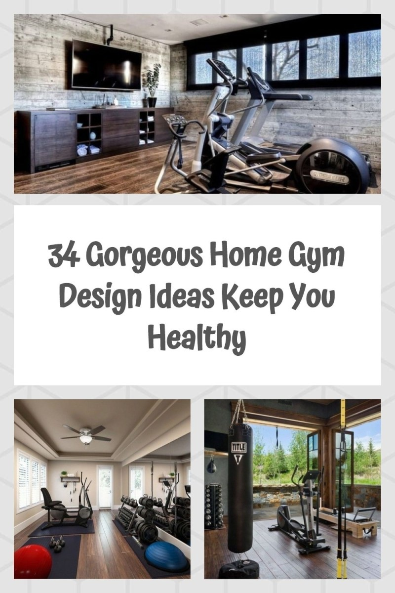 34 Gorgeous Home Gym Design Ideas Keep You Healthy