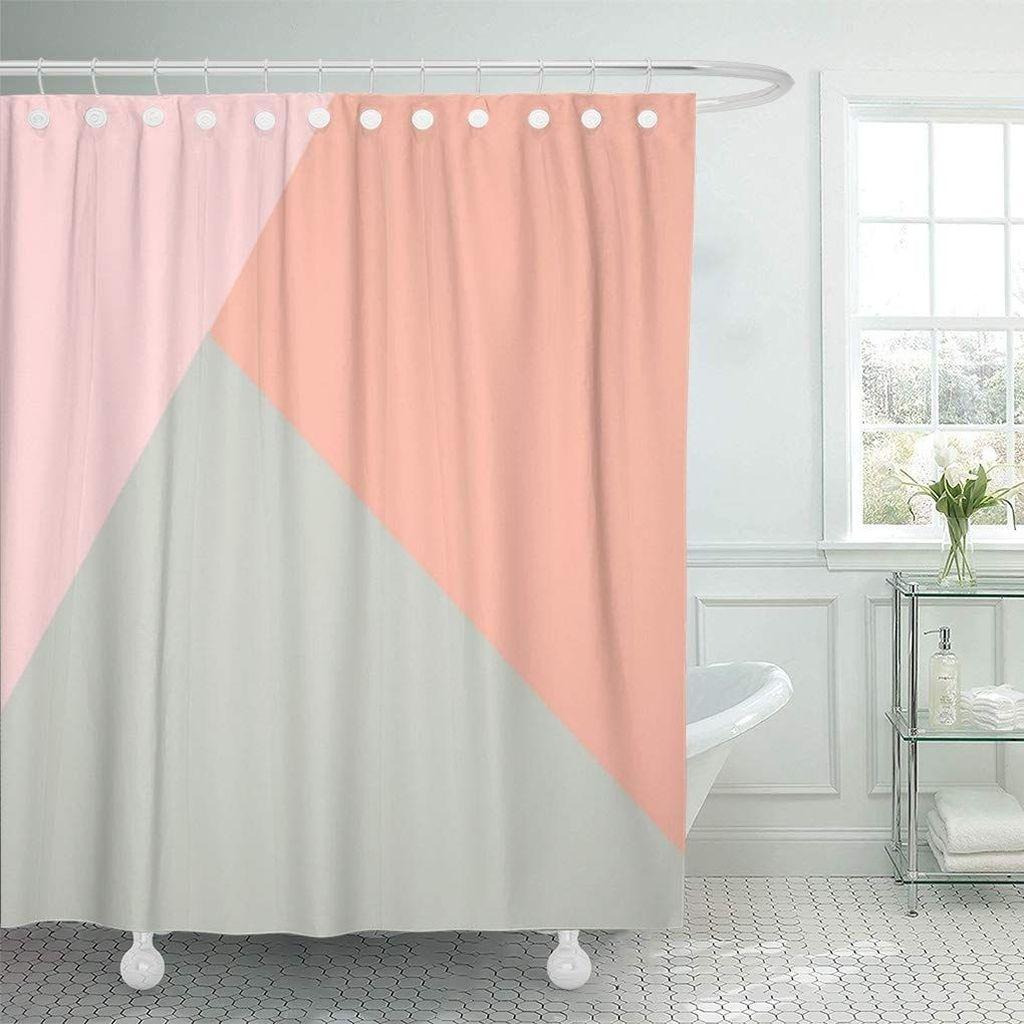 Affordable Coral Color Bathroom Decor Ideas 12