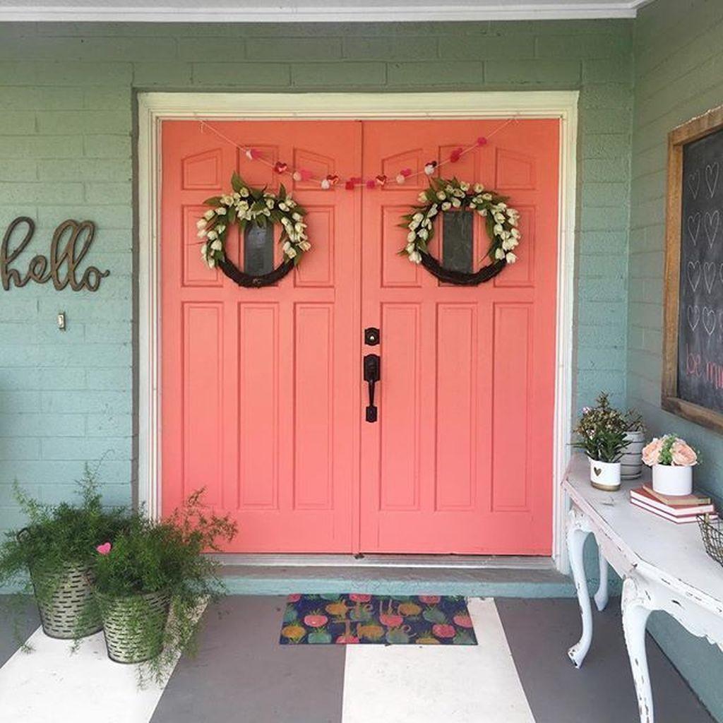 Affordable Coral Color Bathroom Decor Ideas 21
