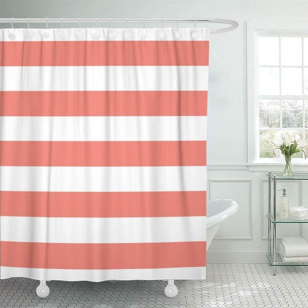 Affordable Coral Color Bathroom Decor Ideas 22
