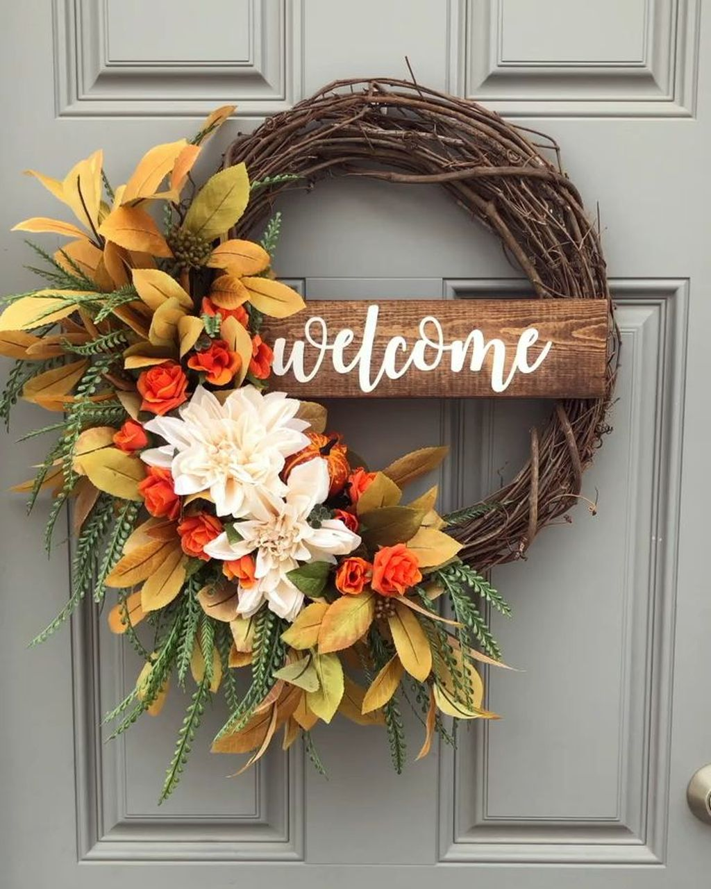 Awesome Spring Wreath Ideas For Front Door Decor 08