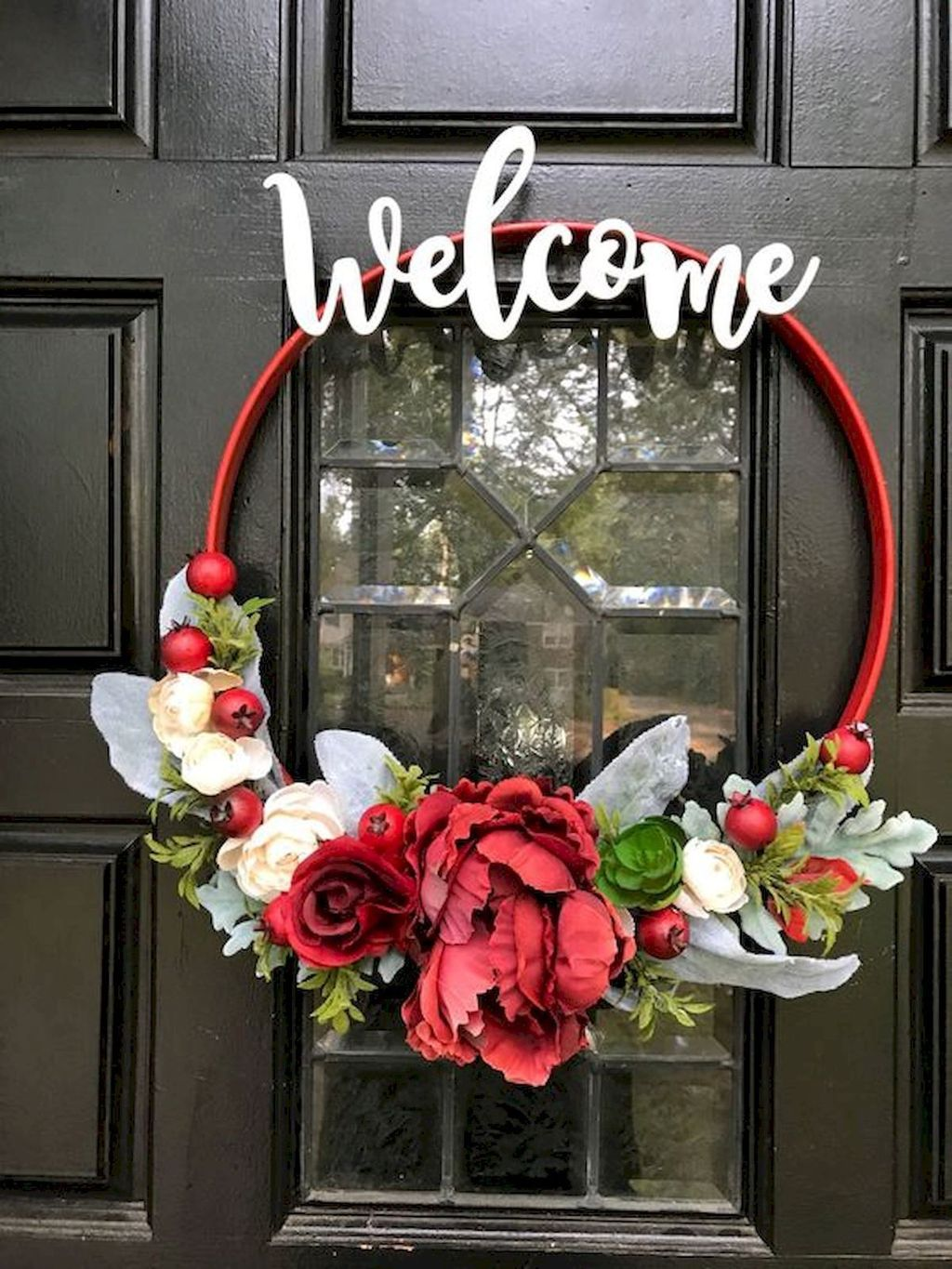Awesome Spring Wreath Ideas For Front Door Decor 21