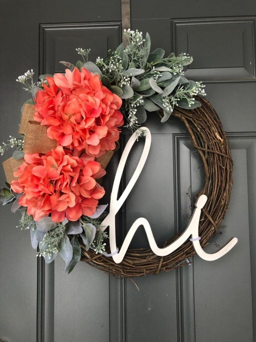 Awesome Spring Wreath Ideas For Front Door Decor 24