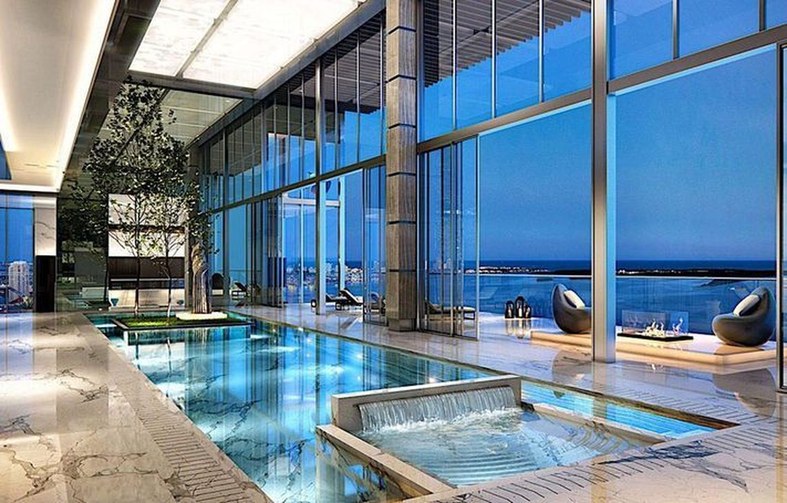 Beautiful Modern Indoor Pool Design Ideas You Must Have 05