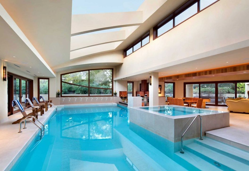 Beautiful Modern Indoor Pool Design Ideas You Must Have 06