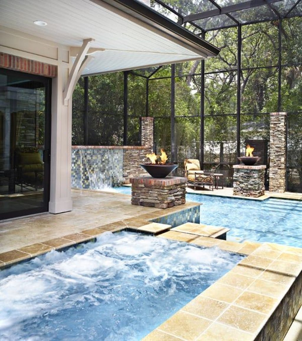 Beautiful Modern Indoor Pool Design Ideas You Must Have 11
