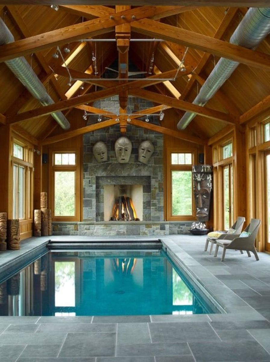 Beautiful Modern Indoor Pool Design Ideas You Must Have 14