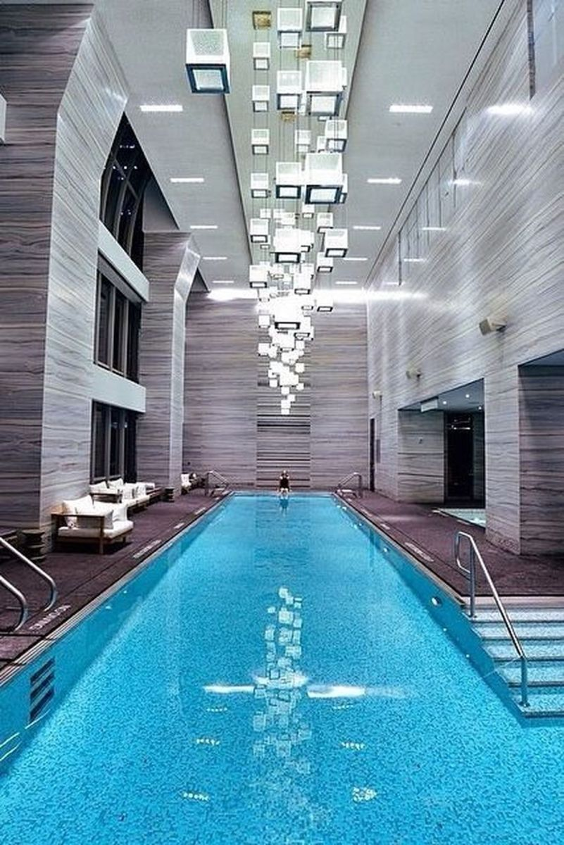Beautiful Modern Indoor Pool Design Ideas You Must Have 35