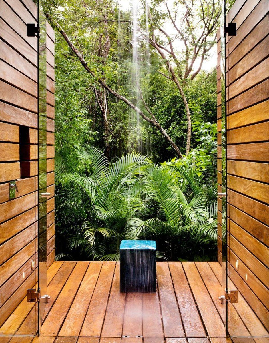 Creative Outdoor Bathroom Design Ideas For Enjoying Summer 22