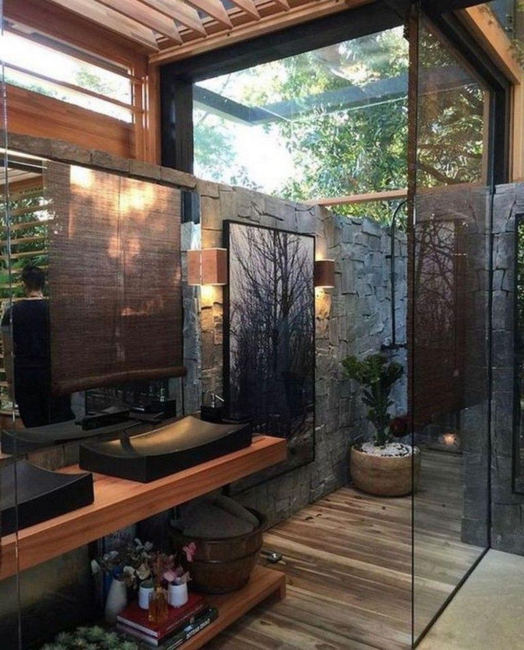 Creative Outdoor Bathroom Design Ideas For Enjoying Summer 23