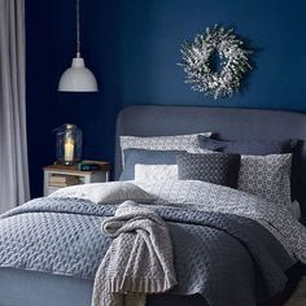 Inspiring Navy Blue Bedroom Decor Ideas You Should Copy 11
