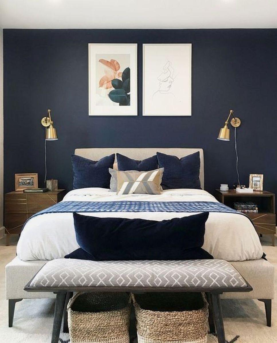Inspiring Navy Blue Bedroom Decor Ideas You Should Copy 15