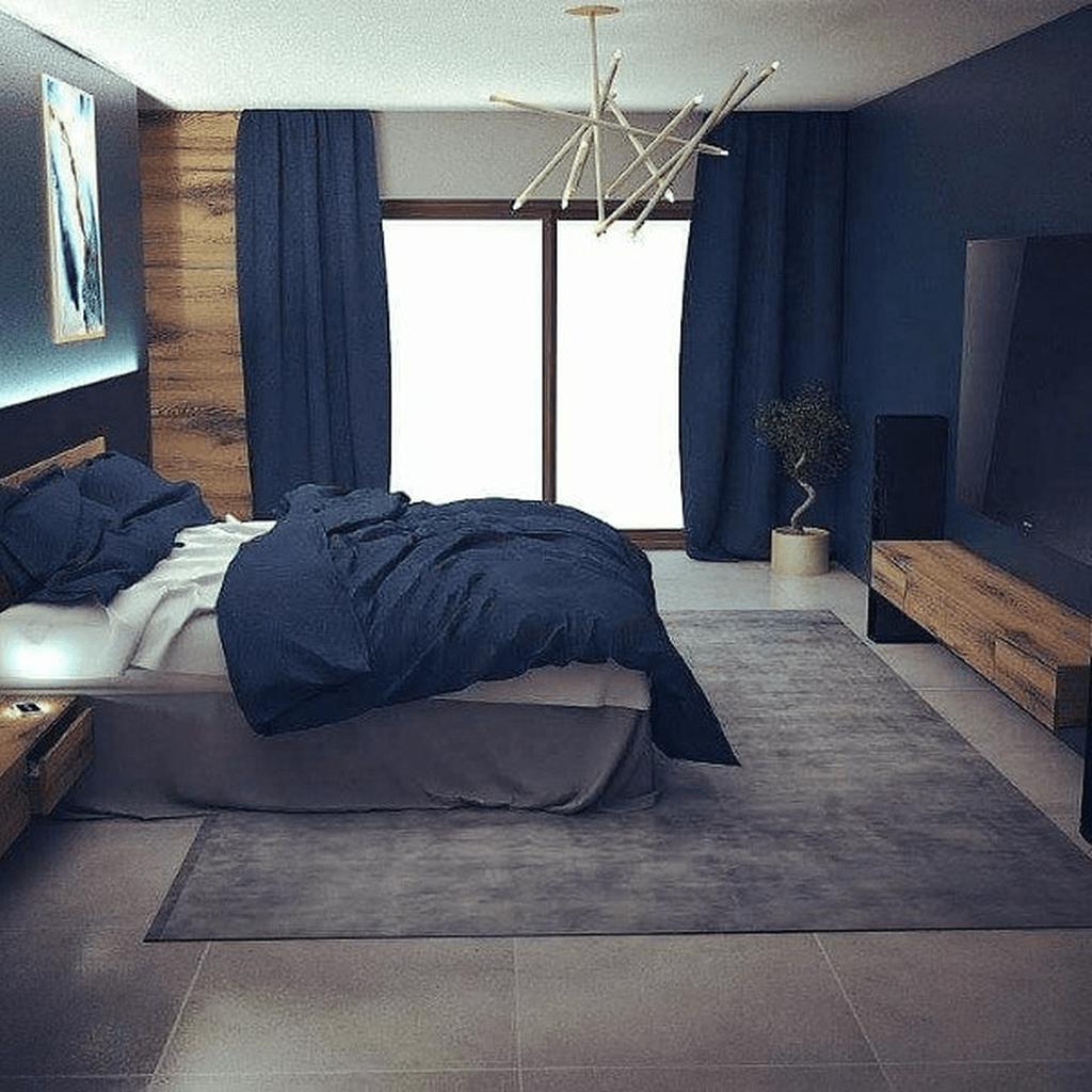 Inspiring Navy Blue Bedroom Decor Ideas You Should Copy 26