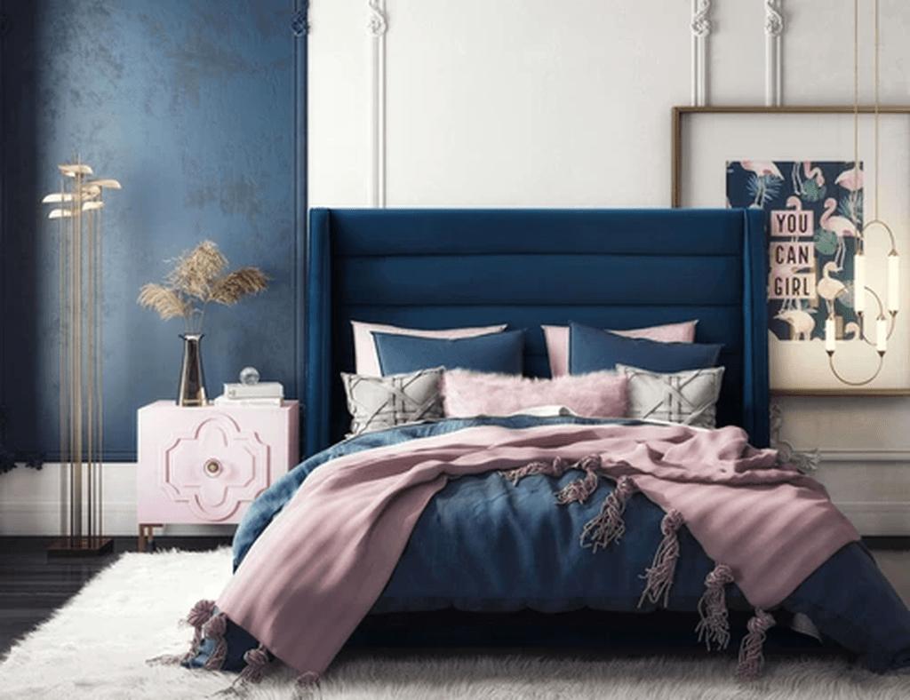 Inspiring Navy Blue Bedroom Decor Ideas You Should Copy 31