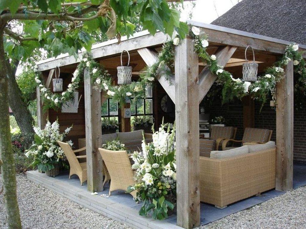 Inspiring Pergola Patio Design Ideas For Your Backyard Decor 07