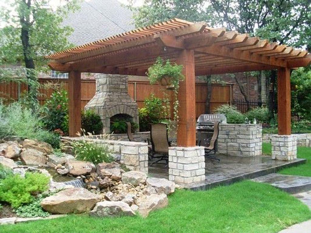 Inspiring Pergola Patio Design Ideas For Your Backyard Decor 25