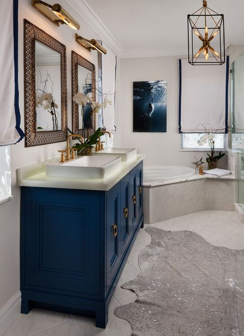 Nice Blue Color Bathroom Decor Ideas 15