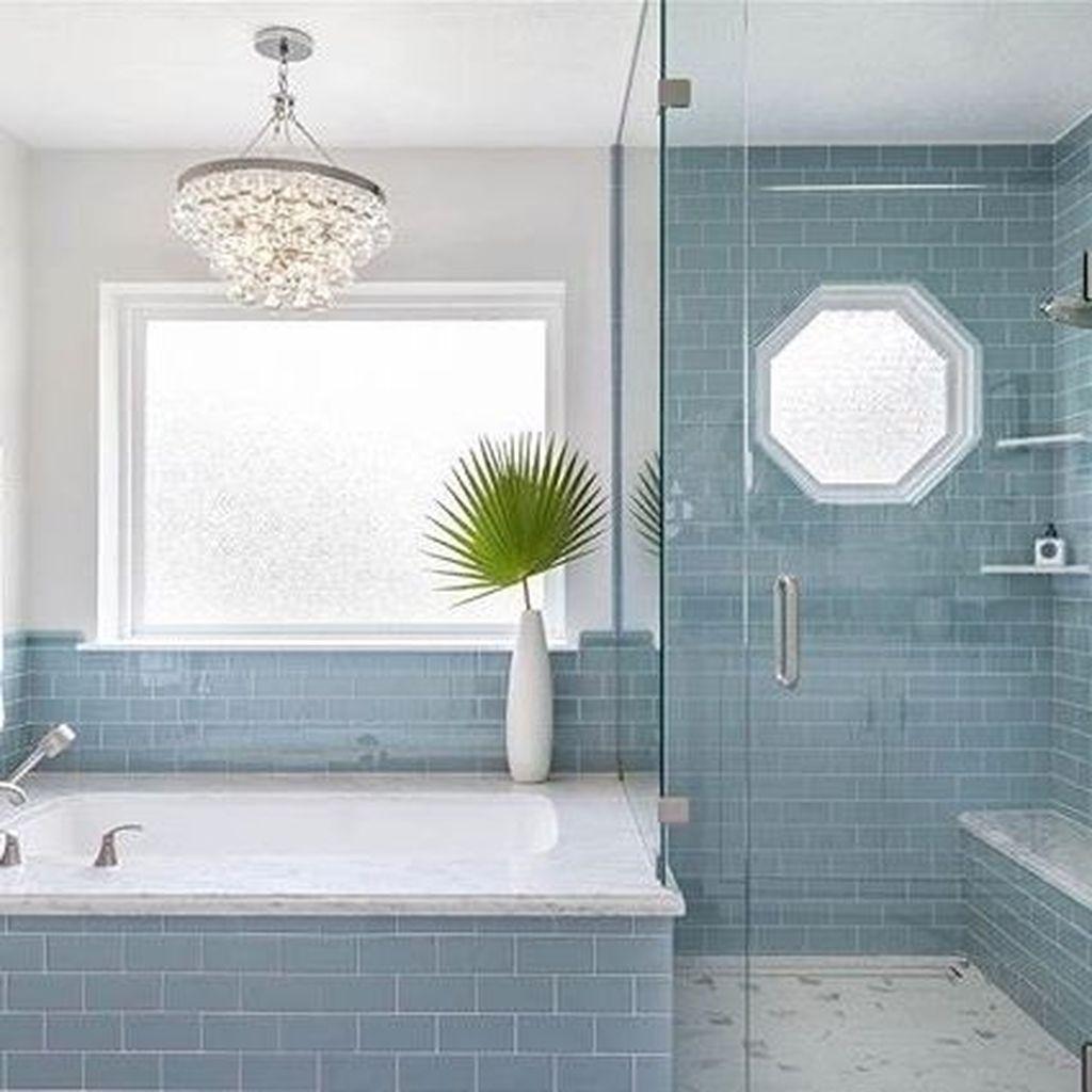 Nice Blue Color Bathroom Decor Ideas 25