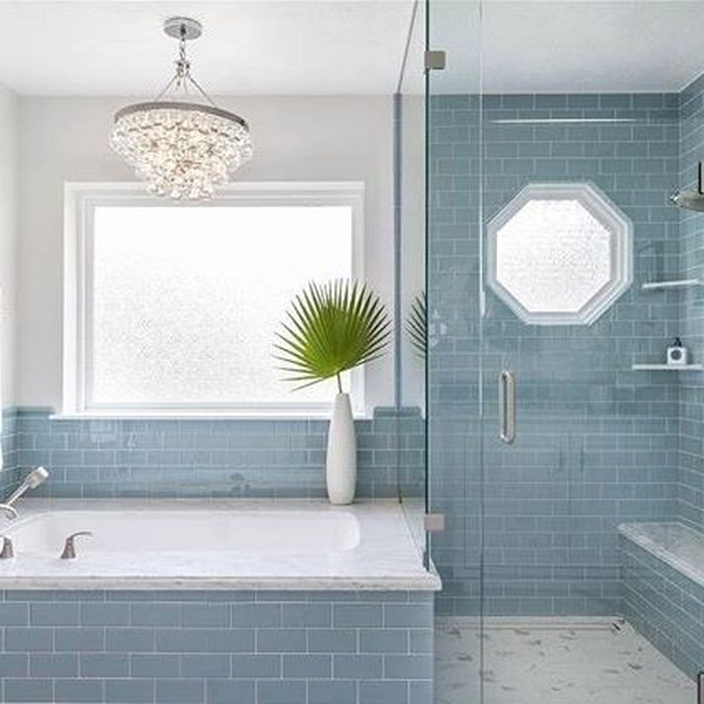 Nice Blue Color Bathroom Decor Ideas 25