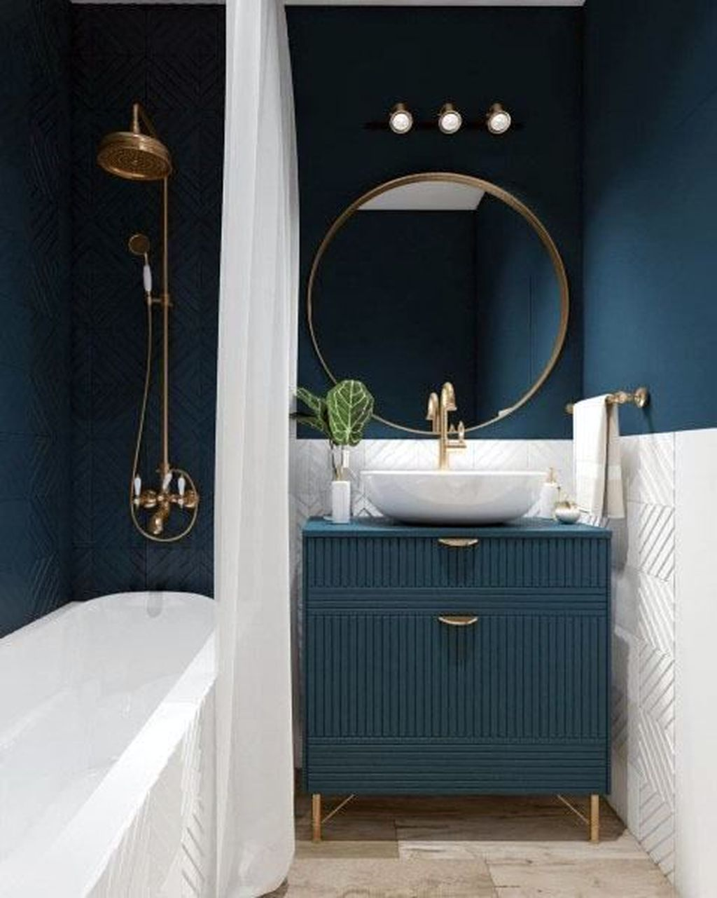 Nice Blue Color Bathroom Decor Ideas 28