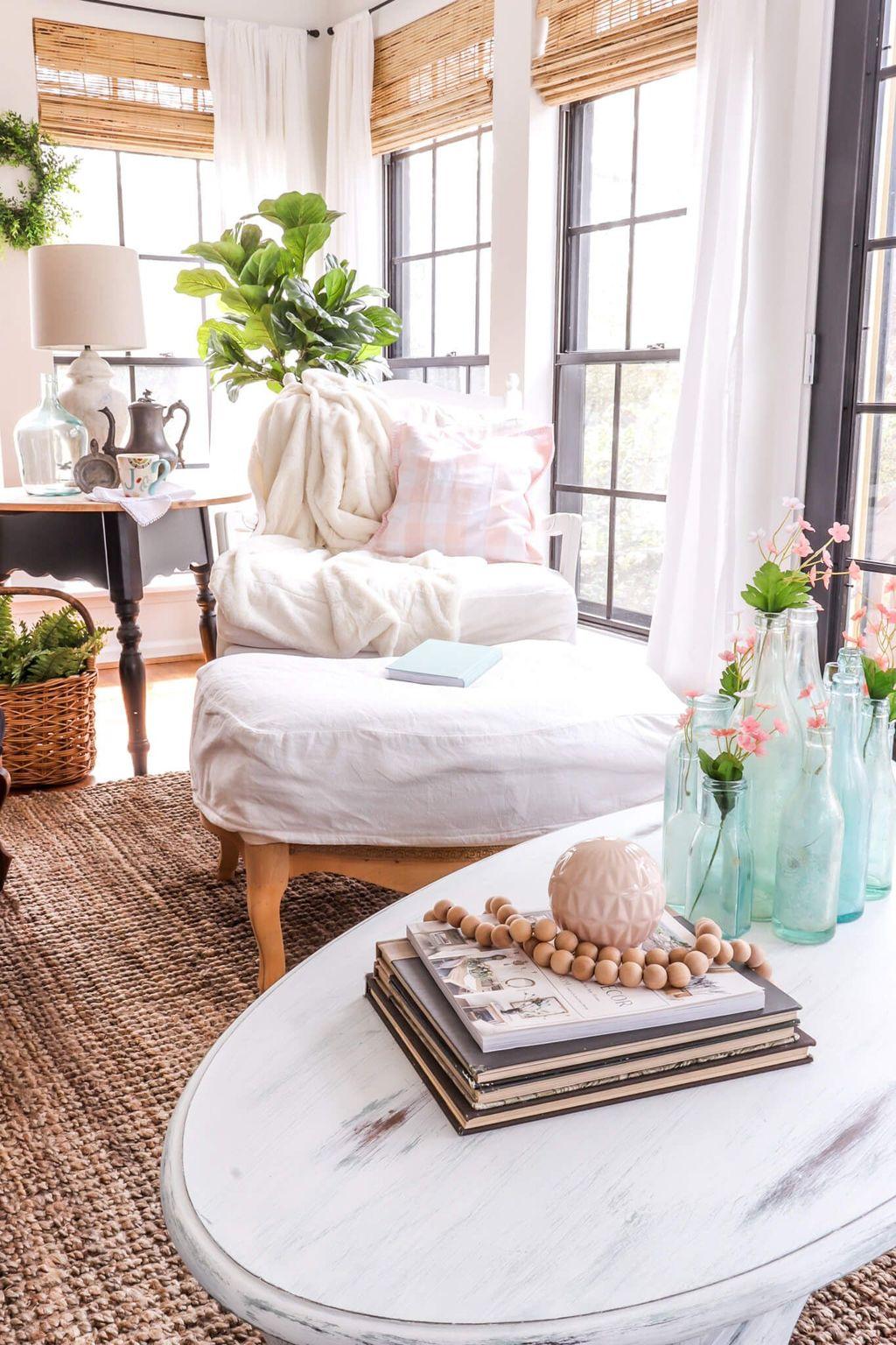 Popular Spring Living Room Decor Ideas 18