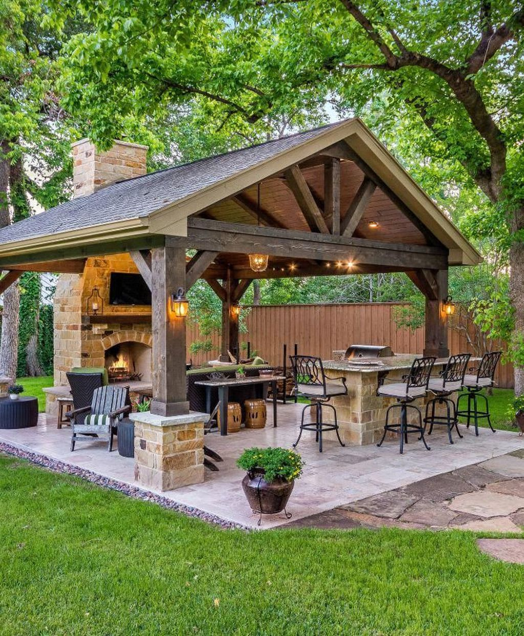 Wonderful Backyard Patio Designs Ideas Perfect For Summertime 04