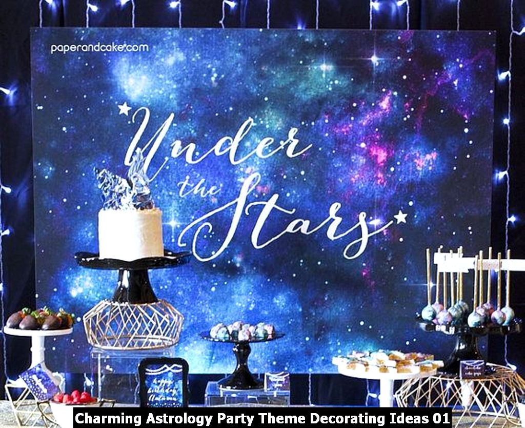 Charming Astrology Party Theme Decorating Ideas 01