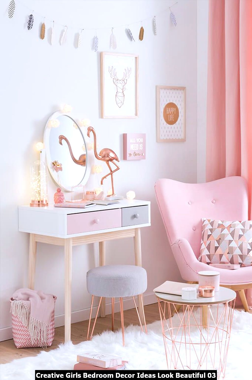 Creative Girls Bedroom Decor Ideas Look Beautiful 03