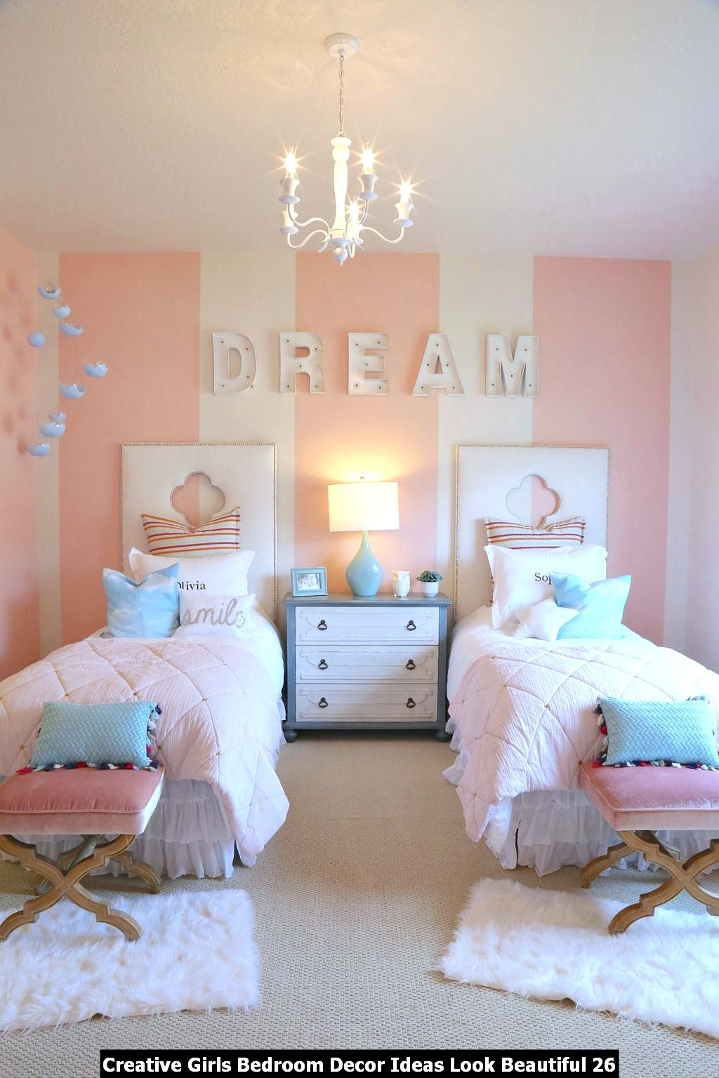 Creative Girls Bedroom Decor Ideas Look Beautiful 26
