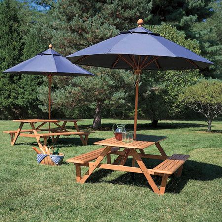 Outdoor Table With Umbrella