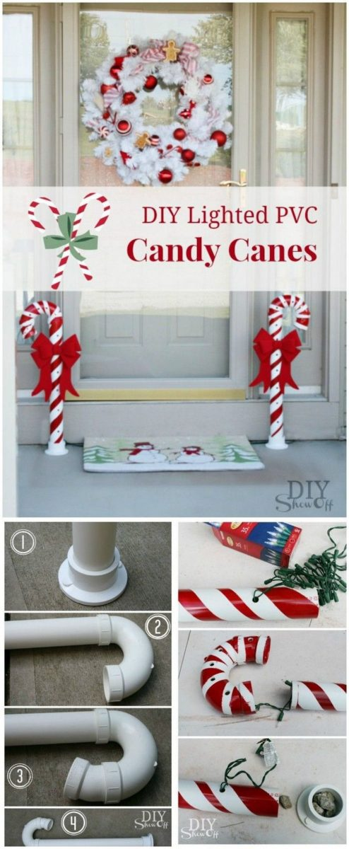 DIY Candy Cane Decorations
