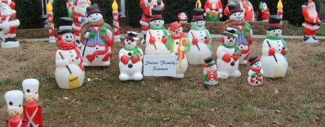 Blow Mold Christmas Decorations