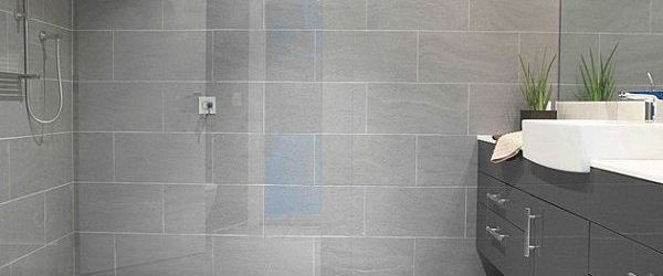 Gray Tile Bathroom