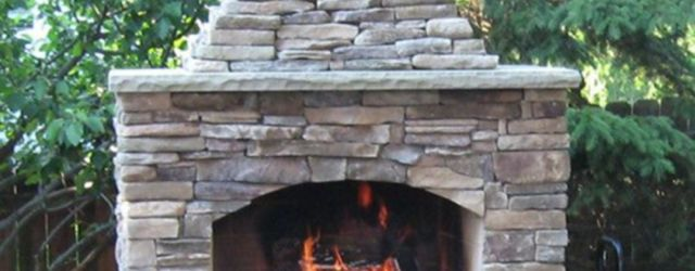 Outdoor Fireplace With Chimney