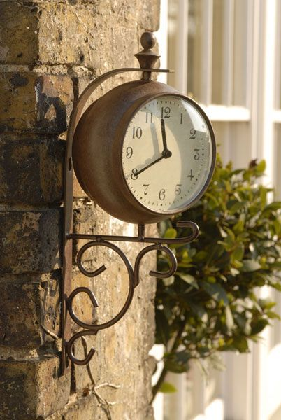 Outdoor Clock And Thermometer