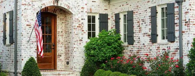 Whitewash Brick Exterior