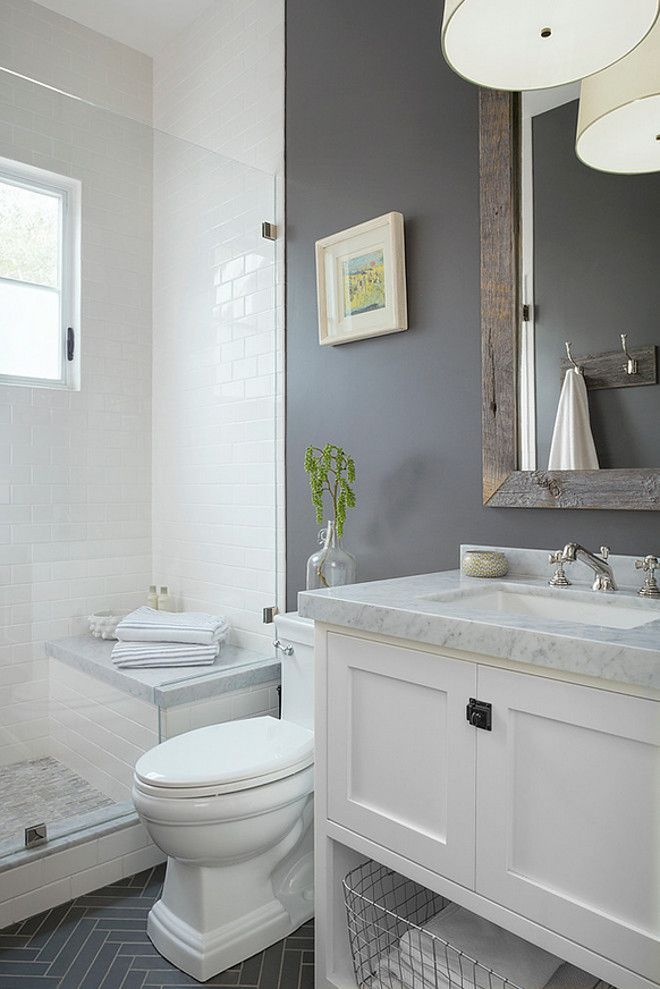 Gray And White Bathroom