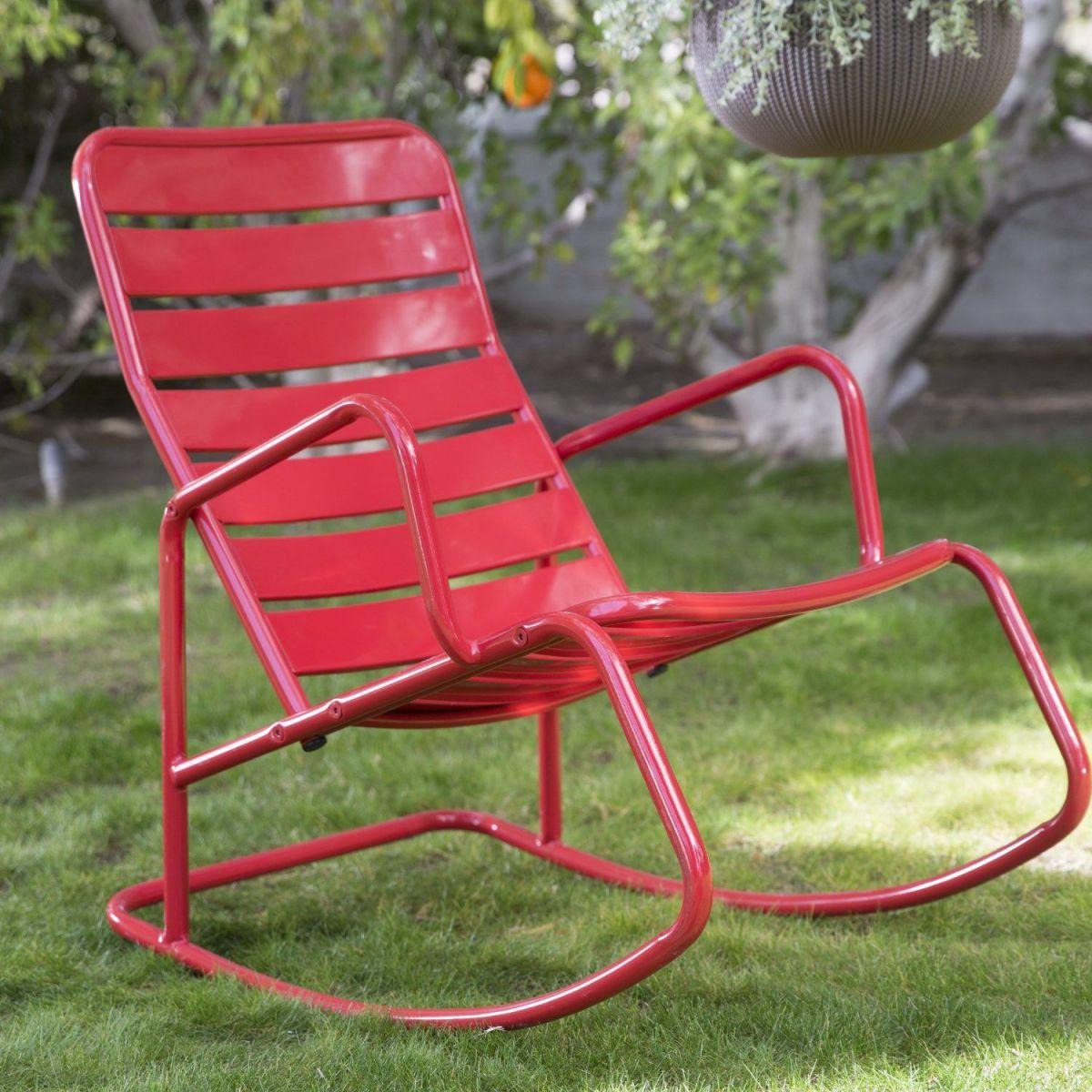 Metal Outdoor Rocking Chair