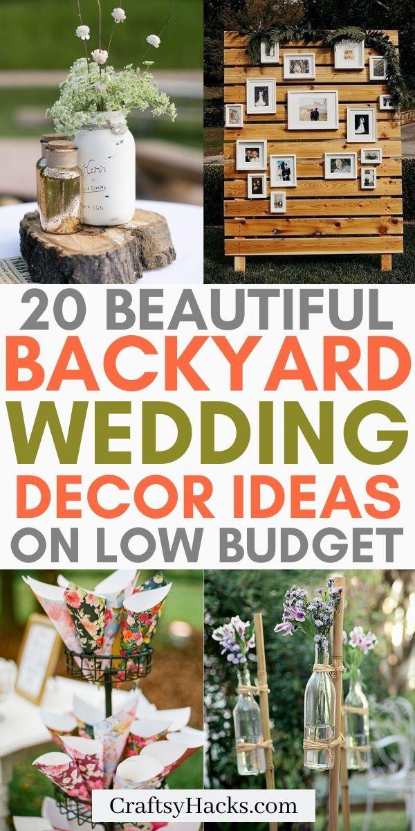 Low Budget DIY Backyard Wedding Decorations