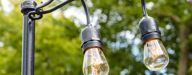 Outdoor String Light Pole