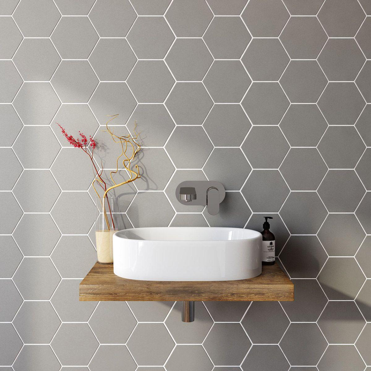 Hexagon Tile Bathroom