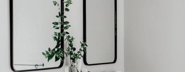 Black Bathroom Mirror