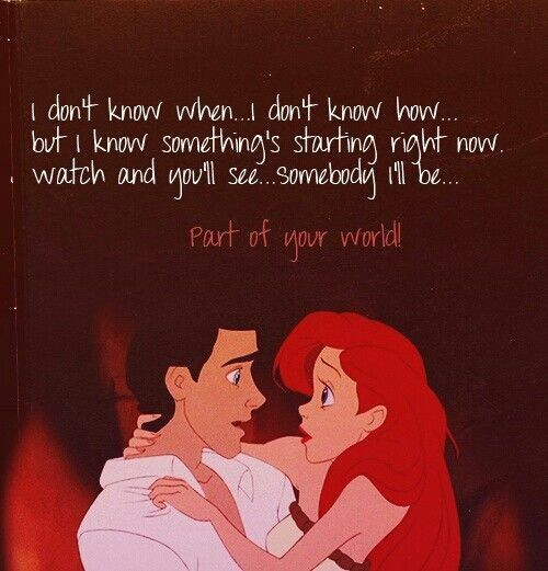Ariel and poem about love