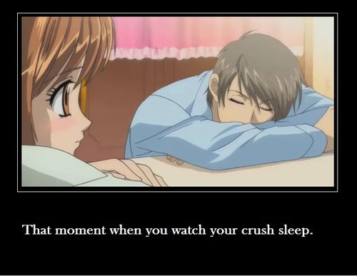 moment when you look at a loved one in his sleep