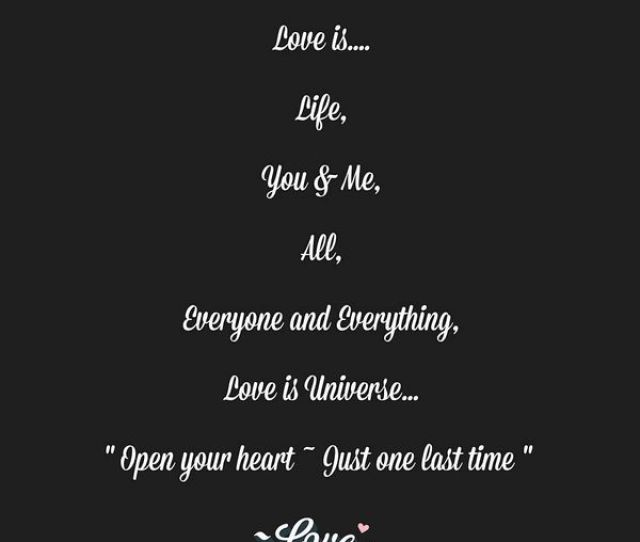 Love Is Life You And Me