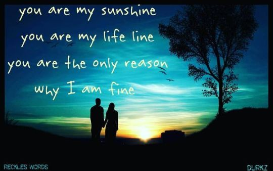 Cute Short Love Quotes for Her and Him You Are My Sunshine You My Life Line