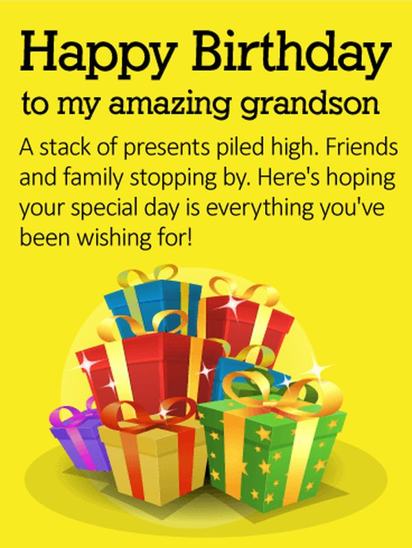 Happy Birthday Wishes For Grandson Bday Grandson Quotes