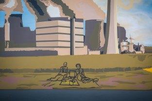 Picknick: Pierre und Marie Curie vorm Atomkraftwerk
